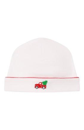 Детского хлопковая шапка KISSY KISSY белого цвета, арт. KB505295N | Фото 1
