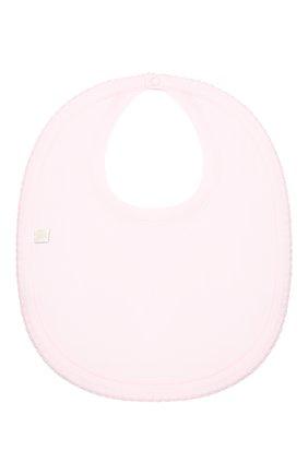 Детский хлопковый нагрудник KISSY KISSY розового цвета, арт. KG3051790 | Фото 2