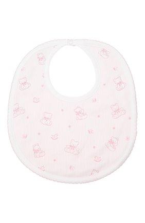 Детский хлопковый нагрудник KISSY KISSY розового цвета, арт. KG3052460 | Фото 1