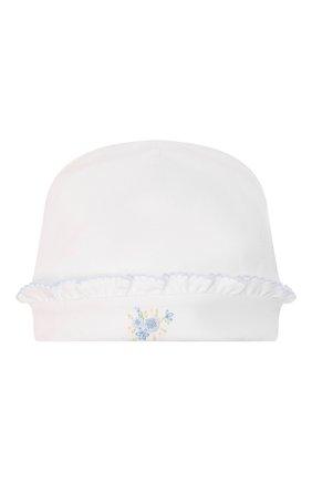 Детского хлопковая шапка KISSY KISSY белого цвета, арт. KG505014N | Фото 1