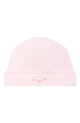 Детского хлопковая шапка KISSY KISSY розового цвета, арт. KG505180N | Фото 1