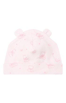 Детского хлопковая шапка KISSY KISSY розового цвета, арт. KG505247N | Фото 1