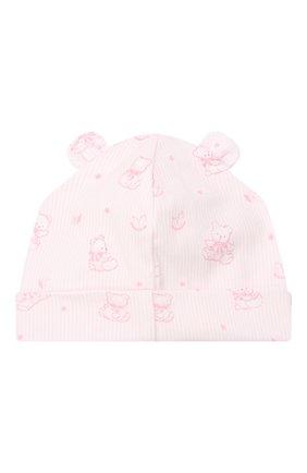 Детского хлопковая шапка KISSY KISSY розового цвета, арт. KG505247N | Фото 2