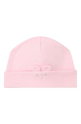 Детского хлопковая шапка KISSY KISSY розового цвета, арт. KG505248N | Фото 1