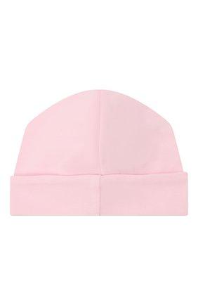 Детского хлопковая шапка KISSY KISSY розового цвета, арт. KG505248N | Фото 2