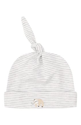 Детского хлопковая шапка KISSY KISSY серого цвета, арт. KN504739N | Фото 1