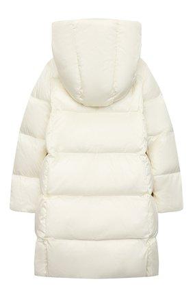 Детское пуховое пальто POLO RALPH LAUREN белого цвета, арт. 313795699 | Фото 2