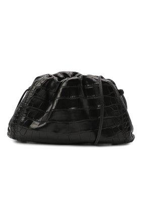 Женский клатч pouch 20 из кожи аллигатора BOTTEGA VENETA черного цвета, арт. 585852/VCPX1/AMIS | Фото 1