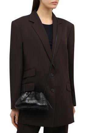 Женский клатч pouch 20 из кожи аллигатора BOTTEGA VENETA черного цвета, арт. 585852/VCPX1/AMIS | Фото 2