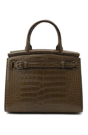 Женская сумка rl50 large из кожи аллигатора RALPH LAUREN зеленого цвета, арт. 435769042/AMIS | Фото 1