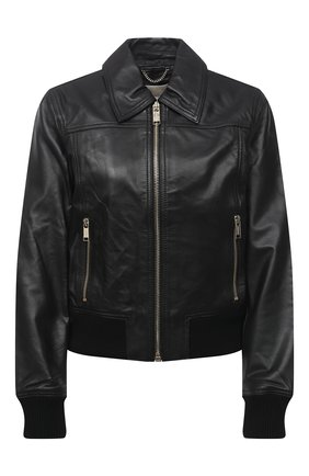 Женская кожаная куртка MICHAEL MICHAEL KORS черного цвета, арт. MU02J6J8RK | Фото 1