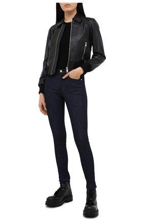 Женская кожаная куртка MICHAEL MICHAEL KORS черного цвета, арт. MU02J6J8RK | Фото 2