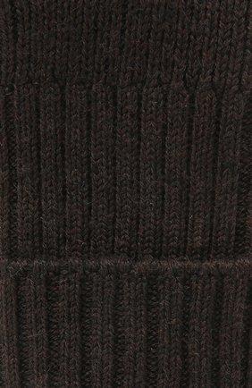 Женские шерстяные носки FALKE темно-коричневого цвета, арт. 47520   Фото 2 (Материал внешний: Шерсть, Синтетический материал)