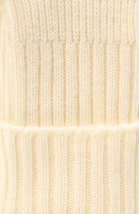 Женские шерстяные носки FALKE белого цвета, арт. 47520   Фото 2 (Материал внешний: Шерсть, Синтетический материал)