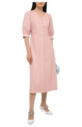 Женское платье из экокожи MASTERPEACE розового цвета, арт. MP-WOOL-20-04 | Фото 2