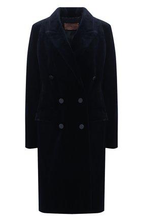 Женская шуба из меха норки YVES SALOMON темно-синего цвета, арт. 21WYM32798VFRX | Фото 1