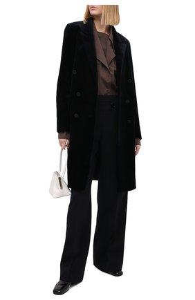 Женская шуба из меха норки YVES SALOMON темно-синего цвета, арт. 21WYM32798VFRX | Фото 2