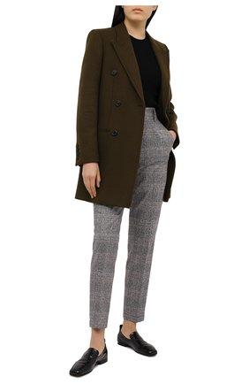 Женские брюки из шелка и шерсти KITON серого цвета, арт. D50106S06305 | Фото 2