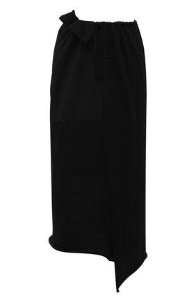 Женская шерстяная юбка Y`S черного цвета, арт. YR-S02-100 | Фото 1