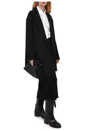 Женская шерстяная юбка Y`S черного цвета, арт. YR-S02-100 | Фото 2
