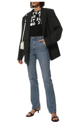 Женская хлопковая футболка MAISON MARGIELA черного цвета, арт. S51GC0427/S22816 | Фото 2