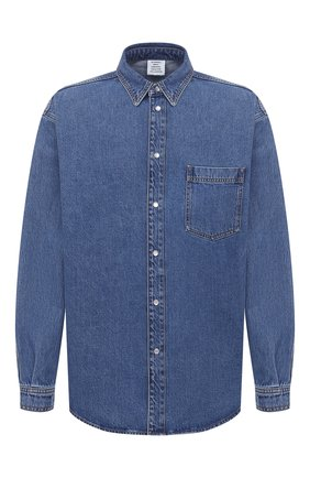 Мужская джинсовая рубашка VETEMENTS синего цвета, арт. UAH21SH043 2801/M | Фото 1