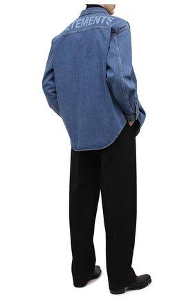 Мужская джинсовая рубашка VETEMENTS синего цвета, арт. UAH21SH043 2801/M | Фото 2