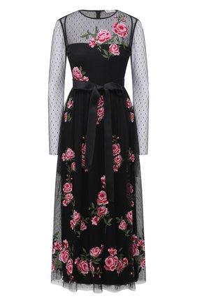 Женское платье REDVALENTINO черного цвета, арт. UR0VA16I/5KY | Фото 1