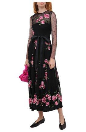 Женское платье REDVALENTINO черного цвета, арт. UR0VA16I/5KY | Фото 2
