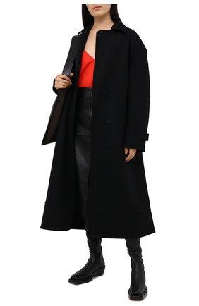 Женский топ из вискозы BOTTEGA VENETA красного цвета, арт. 629737/VKUG0 | Фото 2