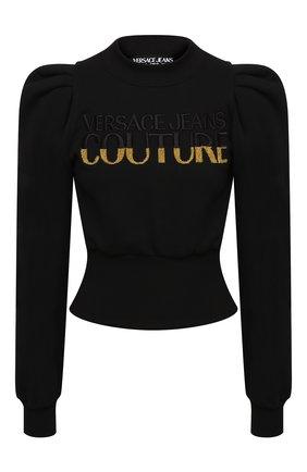 Женская хлопковый свитшот VERSACE JEANS COUTURE черного цвета, арт. B6HZB791-ZDM301 L0G0/13998 | Фото 1