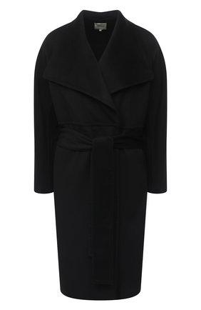 Женское пальто из шерсти и кашемира VINCE черного цвета, арт. V688891296 | Фото 1