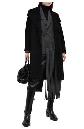 Женское пальто из шерсти и кашемира VINCE черного цвета, арт. V688891296 | Фото 2
