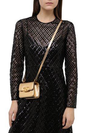 Женская сумка  valentino garavani VALENTINO бронзового цвета, арт. UW2B0G44/QRZ | Фото 2