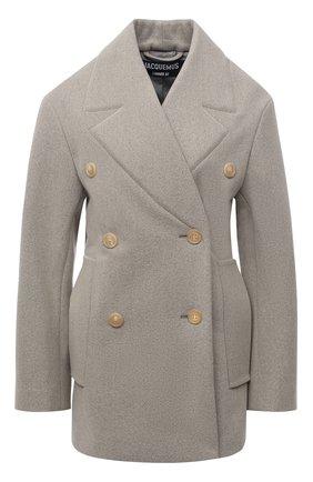 Женское шерстяное пальто JACQUEMUS бежевого цвета, арт. 203C002/123850 | Фото 1