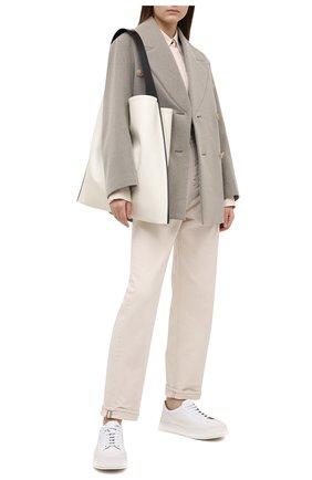 Женское шерстяное пальто JACQUEMUS бежевого цвета, арт. 203C002/123850 | Фото 2