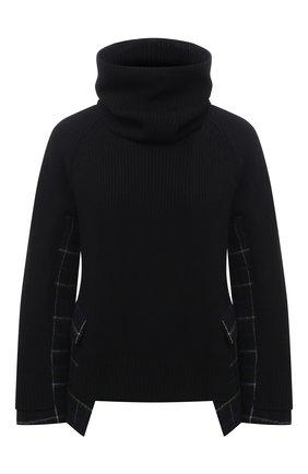 Женский шерстяной свитер SACAI черного цвета, арт. 20-05204 | Фото 1