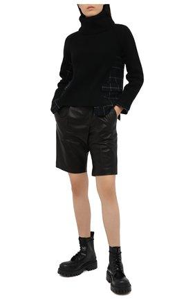 Женский шерстяной свитер SACAI черного цвета, арт. 20-05204 | Фото 2