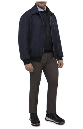 Мужской утепленный бомбер CORTIGIANI темно-синего цвета, арт. 918600/0000/60-70 | Фото 2