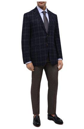 Мужской пиджак из шерсти и шелка LUCIANO BARBERA темно-синего цвета, арт. 111A25PEL1/18124/58-62   Фото 2