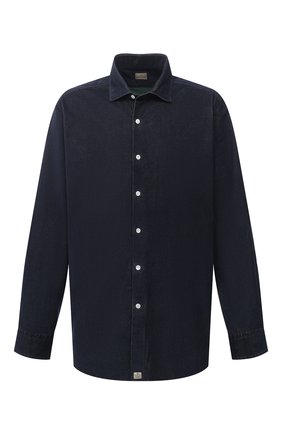 Мужская хлопковая рубашка SONRISA темно-синего цвета, арт. IL7/VE/LV1112/47-51 | Фото 1