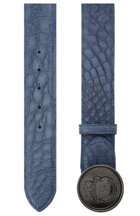 Мужской ремень из кожи крокодила BILLIONAIRE темно-синего цвета, арт. O20A MVA0608 BLE007C | Фото 2