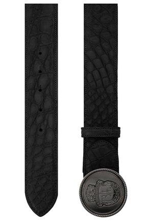 Мужской ремень из кожи крокодила BILLIONAIRE черного цвета, арт. O20A MVA0608 BLE007C | Фото 2