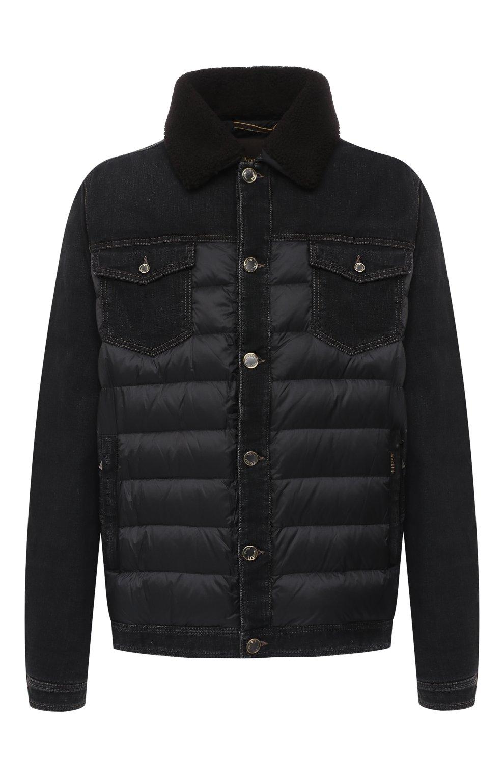 Мужская комбинированная куртка mondor MOORER черного цвета, арт. M0ND0R/FUR-106S/A20M880DC16 | Фото 1 (Кросс-КТ: Куртка, Пуховик; Big sizes: Big Sizes; Мужское Кросс-КТ: пуховик-короткий, Пуховик-верхняя одежда, Верхняя одежда; Рукава: Длинные; Материал внешний: Хлопок; Материал подклада: Синтетический материал; Длина (верхняя одежда): Короткие; Стили: Кэжуэл)
