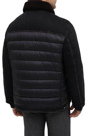 Мужская комбинированная куртка mondor MOORER черного цвета, арт. M0ND0R/FUR-106S/A20M880DC16 | Фото 4 (Кросс-КТ: Куртка, Пуховик; Big sizes: Big Sizes; Мужское Кросс-КТ: пуховик-короткий, Пуховик-верхняя одежда, Верхняя одежда; Рукава: Длинные; Материал внешний: Хлопок; Материал подклада: Синтетический материал; Длина (верхняя одежда): Короткие; Стили: Кэжуэл)