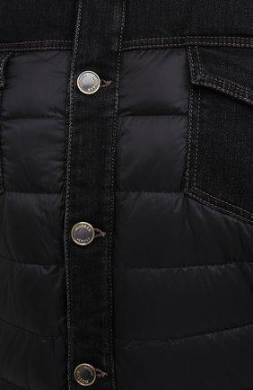 Мужская комбинированная куртка mondor MOORER черного цвета, арт. M0ND0R/FUR-106S/A20M880DC16 | Фото 5 (Кросс-КТ: Куртка, Пуховик; Big sizes: Big Sizes; Мужское Кросс-КТ: пуховик-короткий, Пуховик-верхняя одежда, Верхняя одежда; Рукава: Длинные; Материал внешний: Хлопок; Материал подклада: Синтетический материал; Длина (верхняя одежда): Короткие; Стили: Кэжуэл)