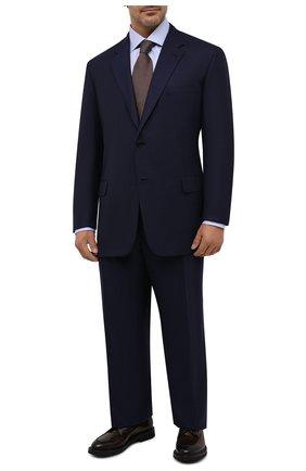 Мужской шерстяной костюм BRIONI темно-синего цвета, арт. RAH00U/09A0H/PARLAMENT0 | Фото 1
