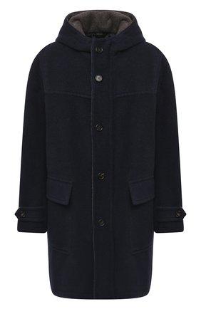 Мужской шерстяное пальто BRIONI темно-синего цвета, арт. S0QB0L/09A23 | Фото 1