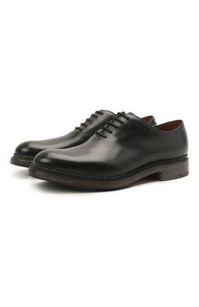 Мужские кожаные оксфорды O`KEEFFE черного цвета, арт. 0K1405/BAR0N   Фото 1