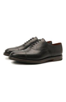 Мужские кожаные оксфорды O`KEEFFE черного цвета, арт. 0K1542/BAR0N   Фото 1
